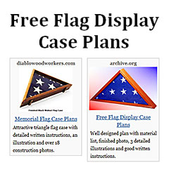 Revised eleven woodworking plans flag display case 07 2001.