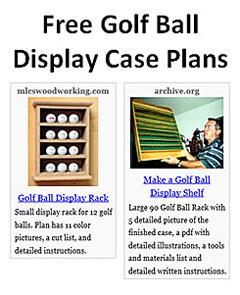 Free Golf Ball Display Case Plans Plans DIY Free Download