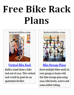 bike rack plans free
