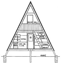 Free A Frame Cabin Floor Plans
