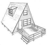 Frame House Plan with Deck Image