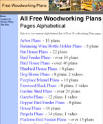All Free Woodworking Plan Pages