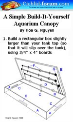 How To Build An Aquarium Stand And Canopy