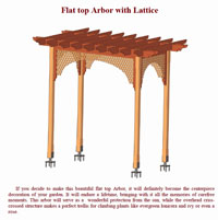 Wooden Arbor with Lattice Plan PDF Photo