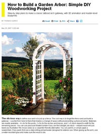 Free Arbor Plans How to Build an Arbor