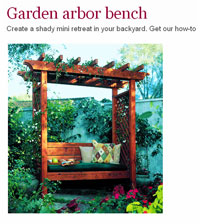 DIY Garden Arbor Bench Picture