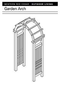 Garden Arch Arbor Plan PDF Image
