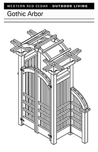 Gothic Arbor with Gate Plan PDF Image