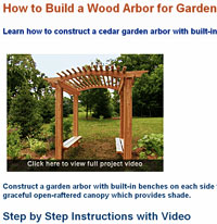 Garden Wooden Arbor Building Plans Picture