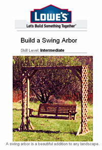 Build a Swing Arbor Picture