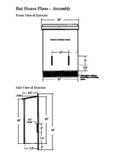 Bat House Plans   Free Bat House Plans  amp  Chamber Bat House Plans PDF Image