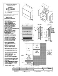 Bat House Plans   Free Bat House PlansThree Chamber Bat Box PDF Picture