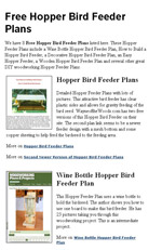 Hopper Bird Feeder Plans