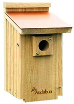 Audubon Coppertop Cedar Bluebird House