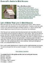 Birds that Live in Birdhouses