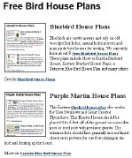 Bird House Plans, Bird House Plans Free, Bird Houses Plans, Blue