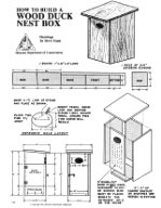 Box Wood Duck House Plans