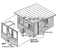 Chicken coop plans how to make a chicken coop for Usda house plans