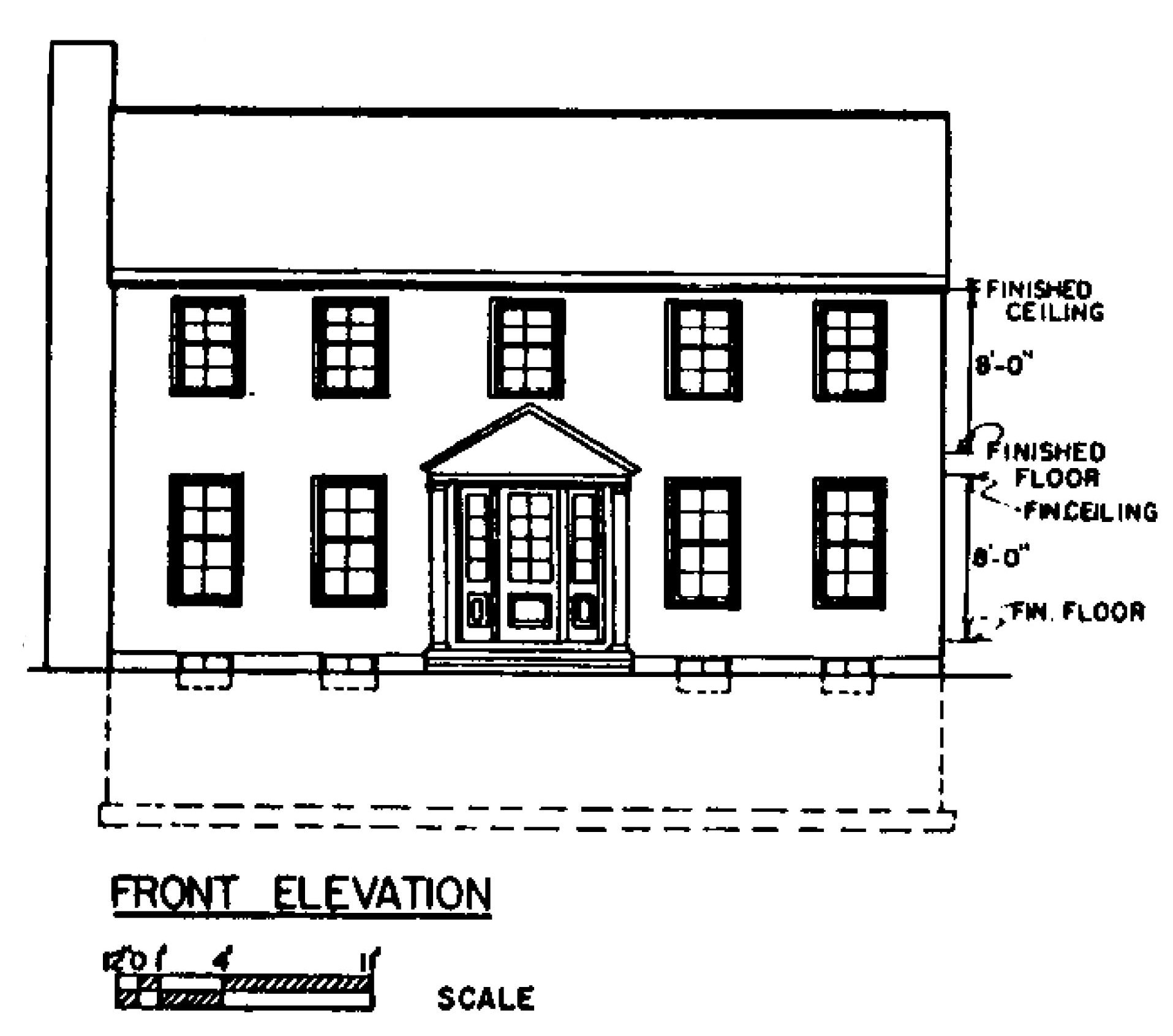 Front Elevation Floor Plan : Free colonial house plans floor