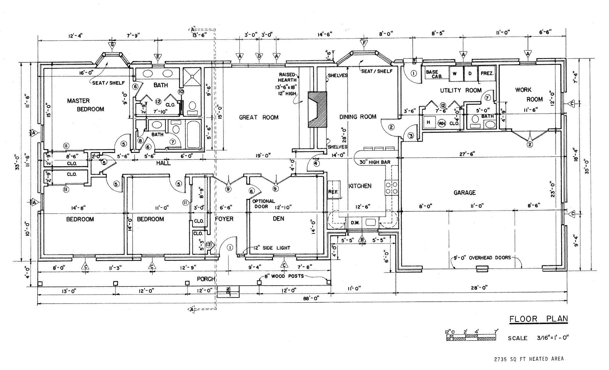 Pin First Floor Plan Of Ranch House Plan 73165 on Pinterest