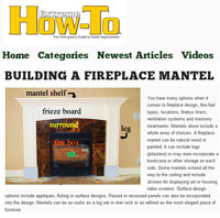 Fireplace Mantel Plans – Free Woodworking Plans, Furniture Plans