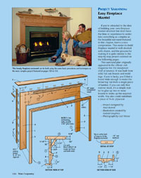 easy fireplace mantel pdf image - How To Build A Fireplace Surround