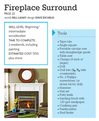 Fireplace Surround Plans Free