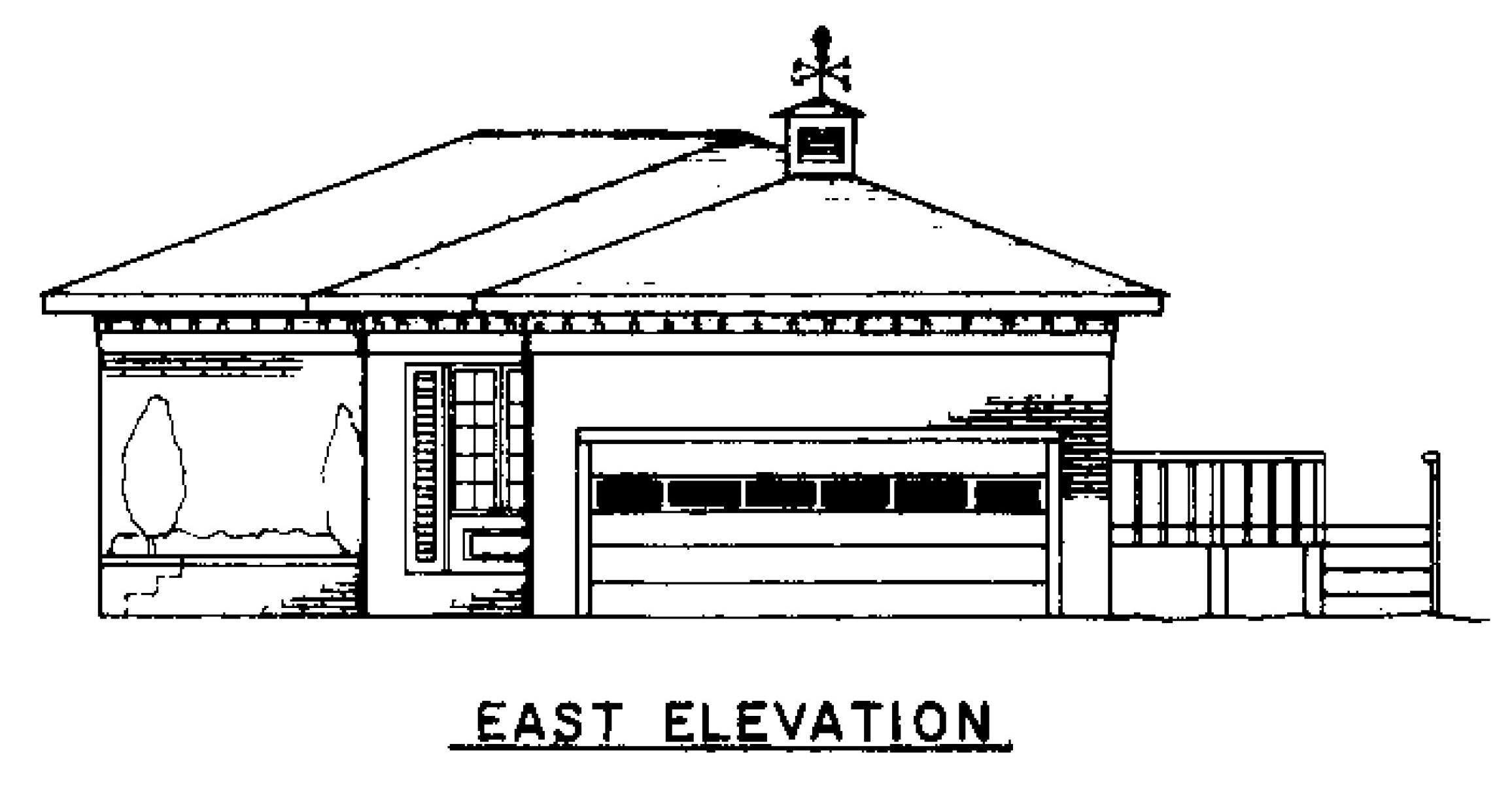 East Elevation Plan : East side home plan house design plans