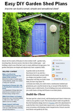 DIY Garden Shed Plans Picture