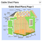 Gable Shed Plans Picture