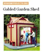 Gabled Garden Shed Image