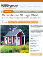 Schoolhouse Storage Shed Image