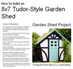 8x7 Tudor Style Shed Image