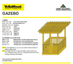 10 x 10 Square Gazebo Plan Photo