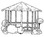 Octagonal Wooden Gazebo Photo