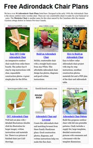 Adirondack Chair Plans Picture