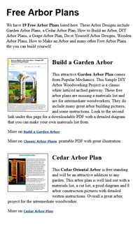 Arbor Plans Picture