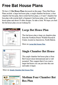 Bat House Plans Picture