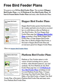 Bird Feeder Plans Photo