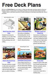 Deck Plans Photo
