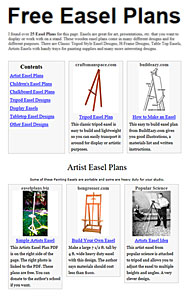 Easel Plans Picture