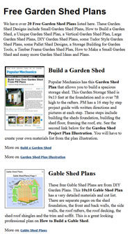 Garden Shed Plans Picture