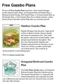 Gazebo Plans Picture