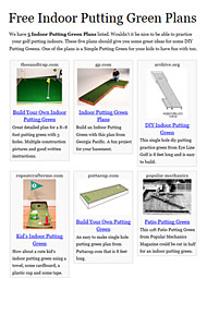 Indoor Putting Greens Photo