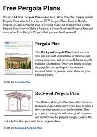 Pergola Plans Image
