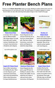 Planter Bench Plans Photo