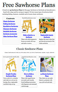 Sawhorse Plans Photo