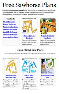 Sawhorse Plans Image