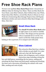 Shoe Rack Plans Picture