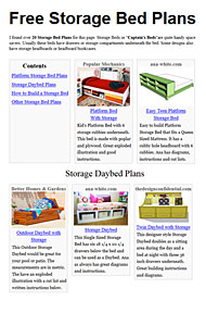 Storage Bed Plans Image